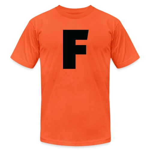 F - Unisex Jersey T-Shirt by Bella + Canvas