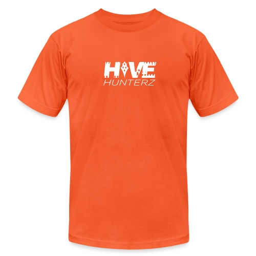White Hive Hunterz Logo - Unisex Jersey T-Shirt by Bella + Canvas