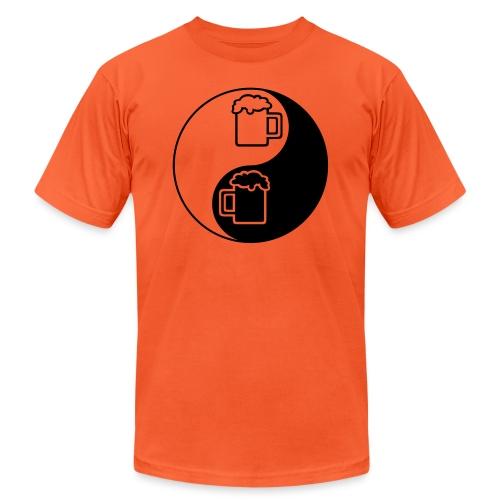 Yin Yang Beer Mugs - Unisex Jersey T-Shirt by Bella + Canvas