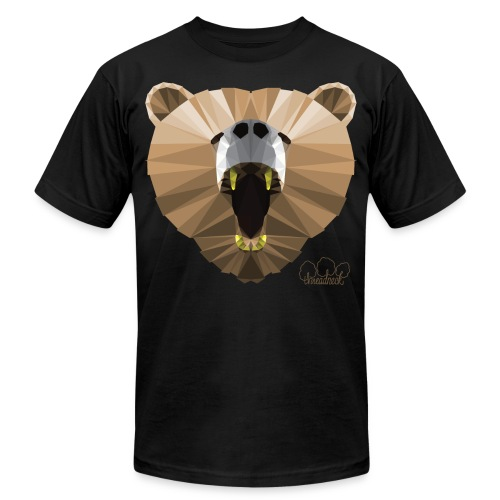 Hungry Bear Women's V-Neck T-Shirt - Unisex Jersey T-Shirt by Bella + Canvas
