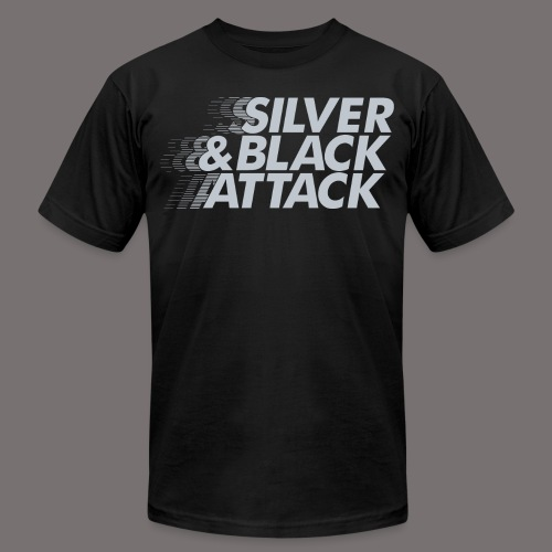 Silver Black Attack - Unisex Jersey T-Shirt by Bella + Canvas