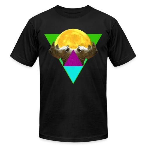 Rhinos Reflection - Unisex Jersey T-Shirt by Bella + Canvas
