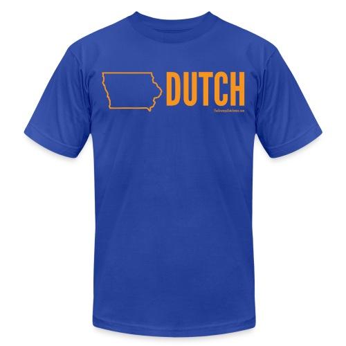 Iowa Dutch (orange) - Unisex Jersey T-Shirt by Bella + Canvas