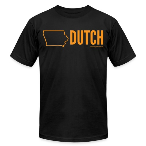 Iowa Dutch (orange) - Unisex Jersey T-Shirt by Bella + Canvas