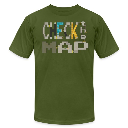 Check the Map - Unisex Jersey T-Shirt by Bella + Canvas
