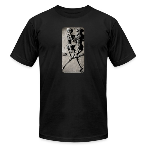 iphone skeletons - Unisex Jersey T-Shirt by Bella + Canvas
