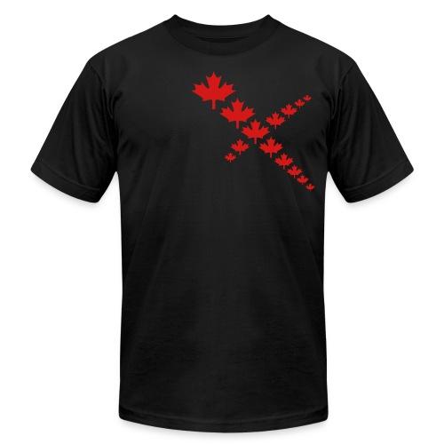 Maple Leafs Cross - Unisex Jersey T-Shirt by Bella + Canvas