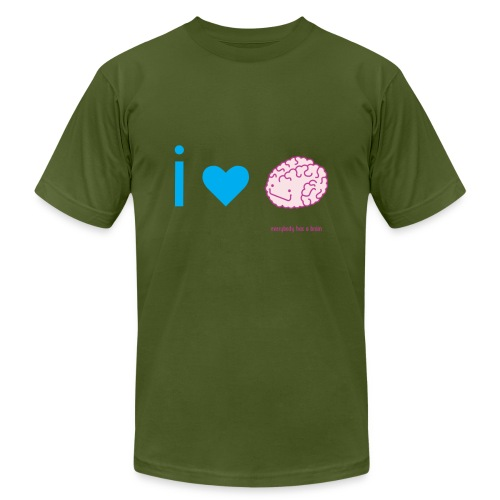 i love brain - Unisex Jersey T-Shirt by Bella + Canvas