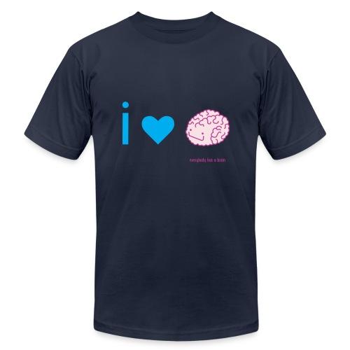 i love brain - Unisex Jersey T-Shirt by Bella + Canvas