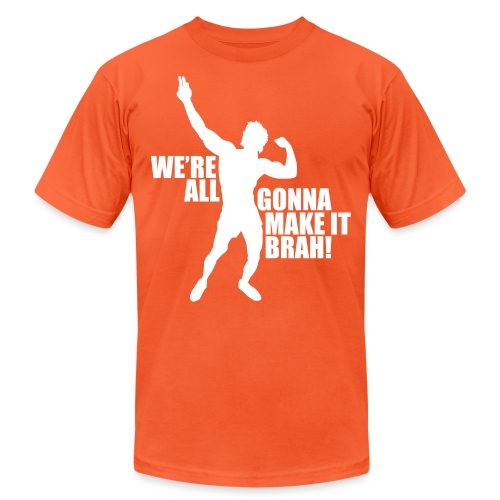 Zyzz Silhouette we're all gonna make it - Unisex Jersey T-Shirt by Bella + Canvas