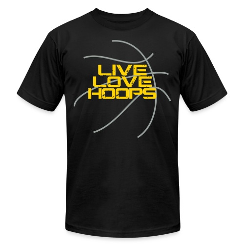 Live Love Hoops Basketball - Unisex Jersey T-Shirt by Bella + Canvas