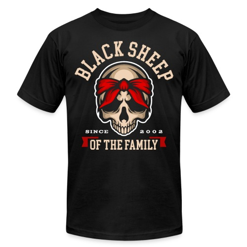 black sheep of the family - Unisex Jersey T-Shirt by Bella + Canvas