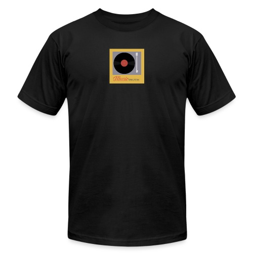 Music Truth Retro Record Label - Unisex Jersey T-Shirt by Bella + Canvas