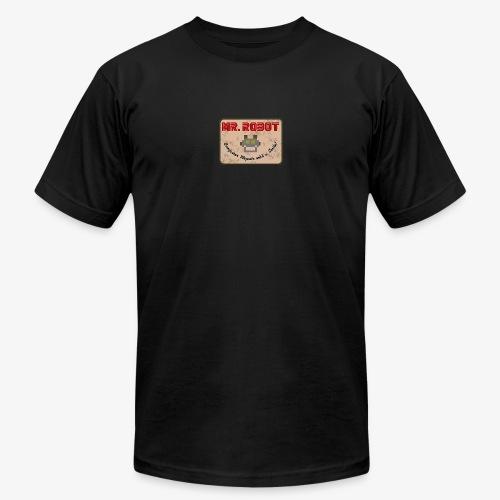 Printed Mr.Robot Patch - Men's  Jersey T-Shirt