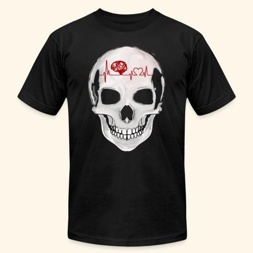 heart beating skull - Men's Fine Jersey T-Shirt