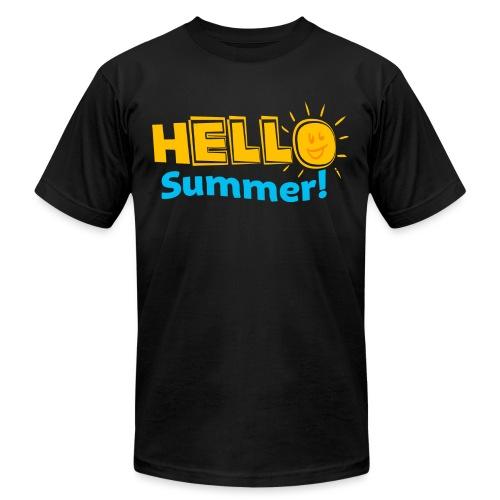 Kreative In Kinder Hello Summer! - Unisex Jersey T-Shirt by Bella + Canvas