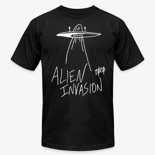 alien invasion inv - Unisex Jersey T-Shirt by Bella + Canvas