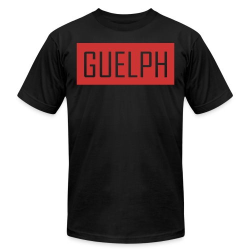 Guelph Logo Red - Unisex Jersey T-Shirt by Bella + Canvas