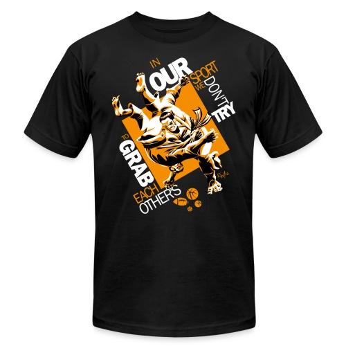 Judo Grab Design for dark shirts - Unisex Jersey T-Shirt by Bella + Canvas