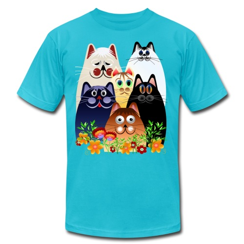 GARDEN CLOWDER of CATS - Unisex Jersey T-Shirt by Bella + Canvas