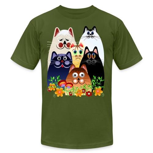 GARDEN CLOWDER of CATS - Unisex Jersey T-Shirt by Bella + Canvas