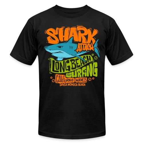 shark surf surfing california - Unisex Jersey T-Shirt by Bella + Canvas