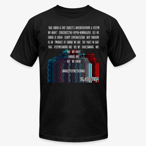 ERROR Lyrics - Unisex Jersey T-Shirt by Bella + Canvas