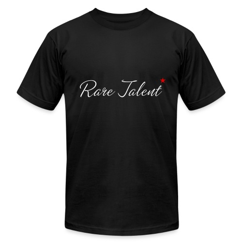 Rare Talent White Text - Unisex Jersey T-Shirt by Bella + Canvas