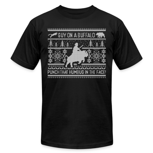 Guy on a Buffalo X-mas 17 - Unisex Jersey T-Shirt by Bella + Canvas