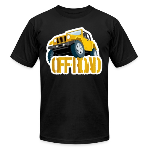 Yellow 4X4 off-road Jeep - Men's Jersey T-Shirt