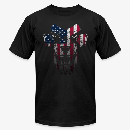 American Flag Lion Shirt - Men's  Jersey T-Shirt