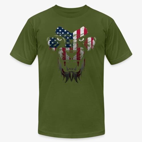 American Flag Lion Shirt - Men's Jersey T-Shirt