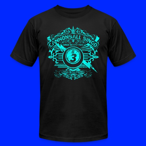 Vintage Cannonball Bingo Crest Bright Blue - Unisex Jersey T-Shirt by Bella + Canvas
