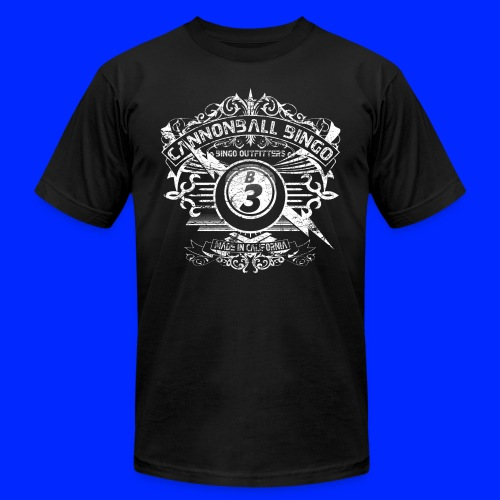 Vintage Cannonball Bingo Crest White - Men's  Jersey T-Shirt