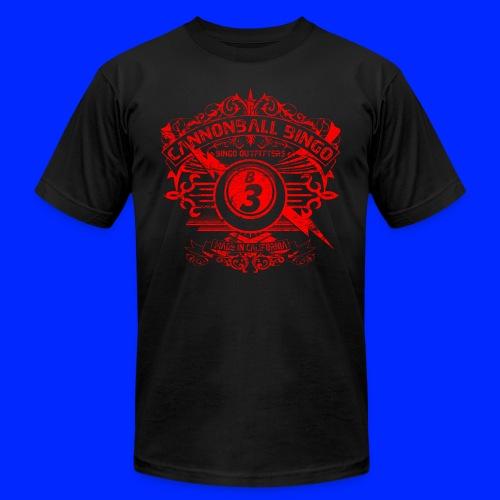 Vintage Cannonball Bingo Crest Red - Men's Jersey T-Shirt