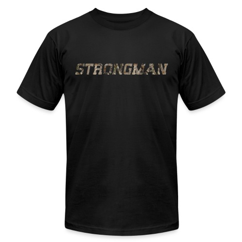 strongman front - Unisex Jersey T-Shirt by Bella + Canvas
