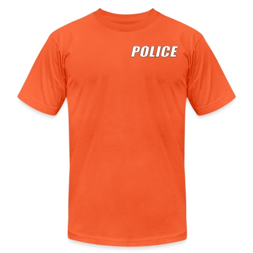 Police White - Unisex Jersey T-Shirt by Bella + Canvas