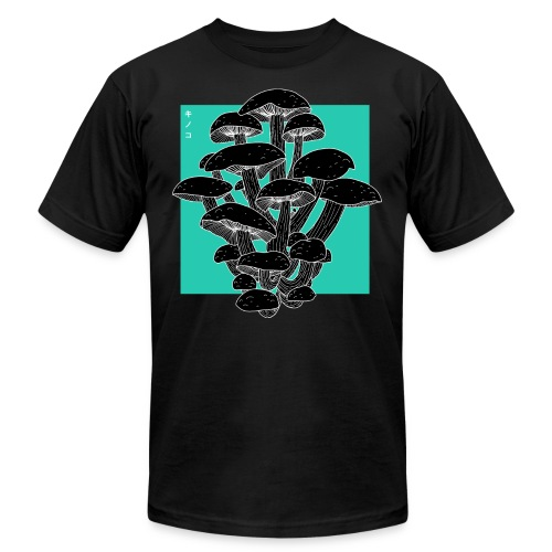 shrooms blu edited 1 - Unisex Jersey T-Shirt by Bella + Canvas