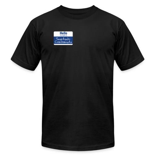 Snortoshi Crakamoto Name Tag Bitcoin Creator - Men's  Jersey T-Shirt