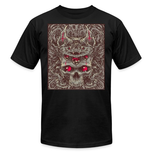 Bat and Skull - Men's  Jersey T-Shirt
