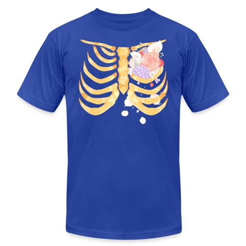 Pastel Goth Gold Rib Cage Shirt - Men's  Jersey T-Shirt