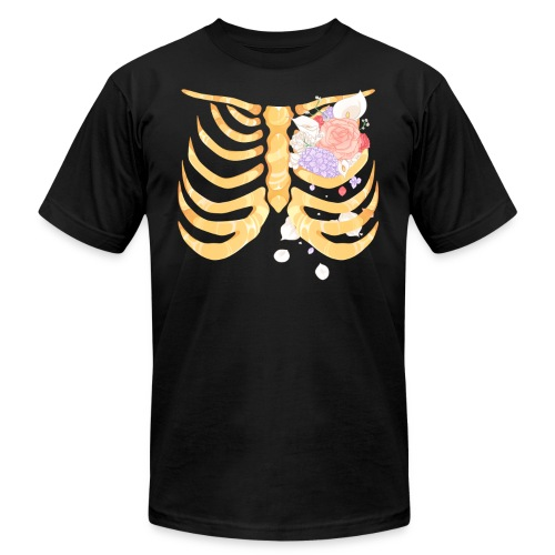 Pastel Goth Gold Rib Cage Shirt - Men's  Jersey T-Shirt