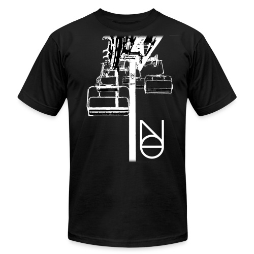 Chairlift Design - Unisex Jersey T-Shirt by Bella + Canvas