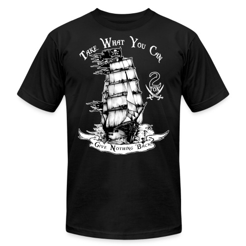 2ton Pyrates - Unisex Jersey T-Shirt by Bella + Canvas