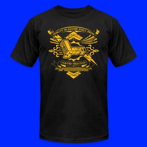 Vintage Leet Sauce Studios Crest Gold - Unisex Jersey T-Shirt by Bella + Canvas