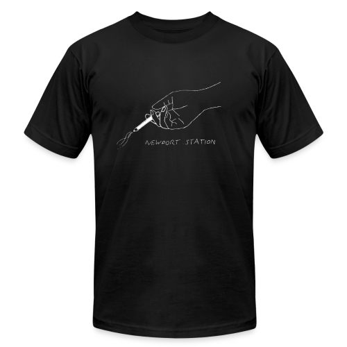 hand holding cig (etched in white) - Men's  Jersey T-Shirt