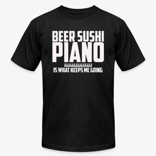 BEER SUSHI PIANO T-SHIRT - Men's  Jersey T-Shirt
