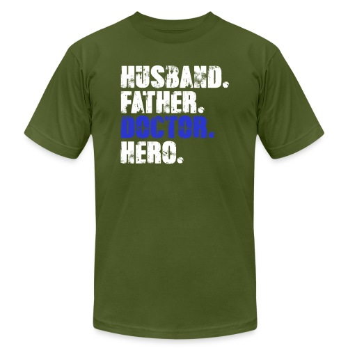 Father Husband Doctor Hero - Doctor Dad - Men's Jersey T-Shirt