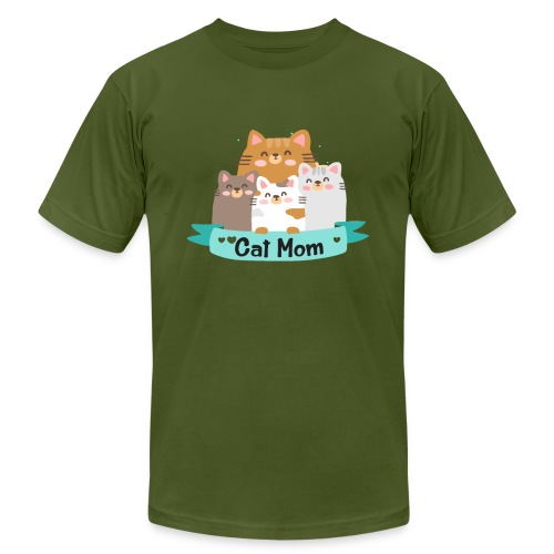 Cat MOM, Cat Mother, Cat Mum, Mother's Day - Men's Jersey T-Shirt