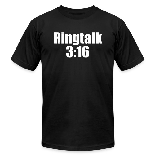 RingTalk 3:16 Logo - Men's  Jersey T-Shirt